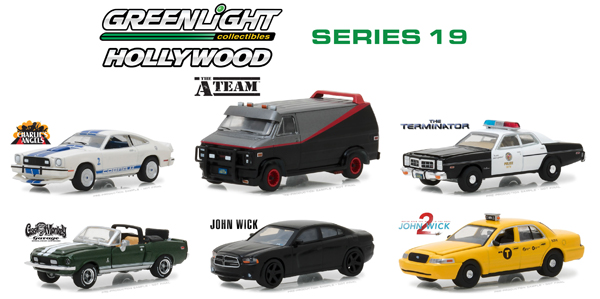 44790-CASE - Greenlight Diecast Hollywood Series 19 Six Piece Set