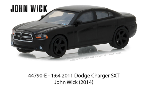 44790-E - Greenlight Diecast 2011 Dodge Charger SXT John Wick 2014