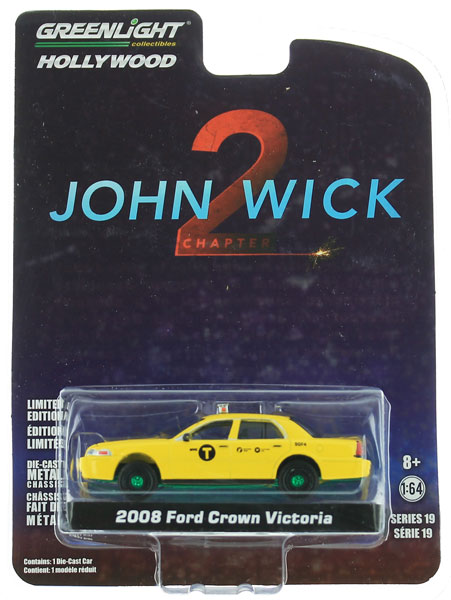 44790-F-SP - Greenlight Diecast 2008 Ford Crown Victoria Taxi John Wick