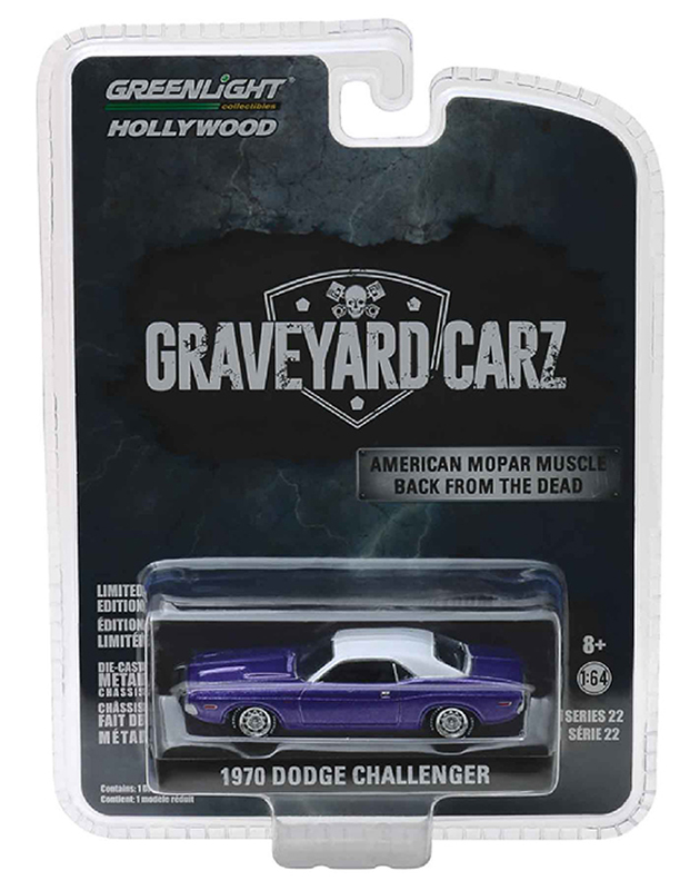 44820-F - Greenlight Diecast 1970 Dodge Challenger R_T Graveyard Carz TV