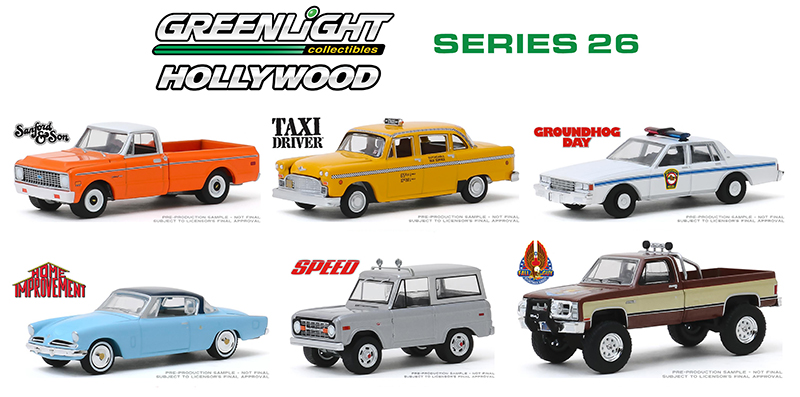 44860-MASTER - Greenlight Diecast Hollywood Series 26 48 Piece Assortment Eight