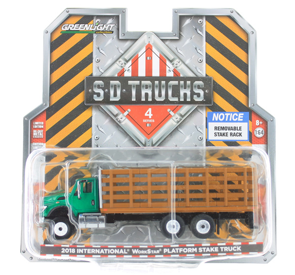 45040-B-SP - Greenlight Diecast 2018 International WorkStar Platform Stake Truck
