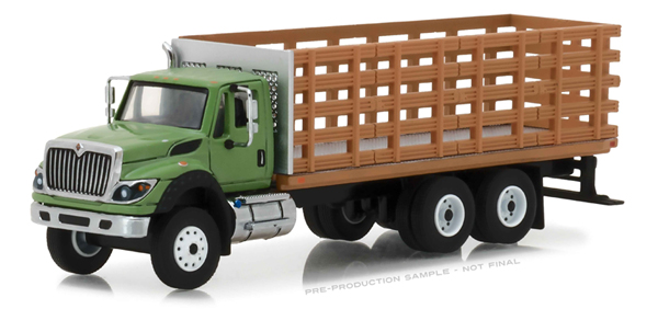 45040-B - Greenlight Diecast 2018 International WorkStar Platform Stake Truck