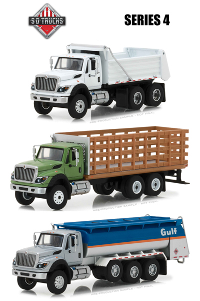 45040-CASE - Greenlight Diecast Super Duty Trucks Series 4 6 Piece