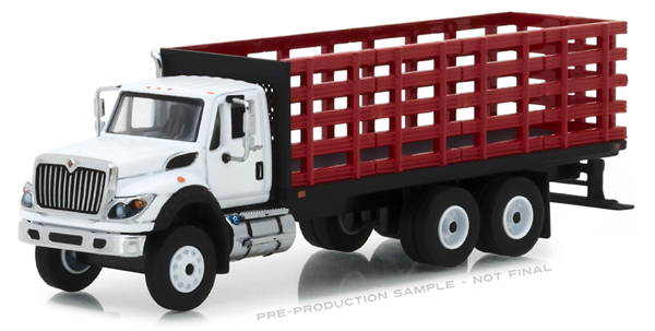 45050-B - Greenlight Diecast 2018 International WorkStar Platform Stake Truck