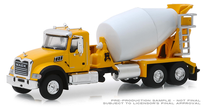 45070-B - Greenlight Diecast 2019 Mack Granite Cement Mixer Super Duty