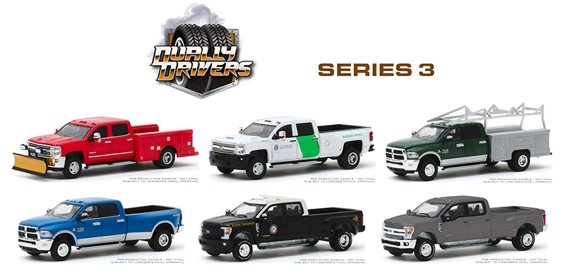46030-CASE - Greenlight Diecast Dually Drivers Series 3 6 Piece Set
