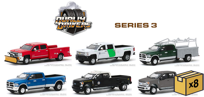 46030-MASTER - Greenlight Diecast Dually Drivers Series 3 48 Piece Assortment