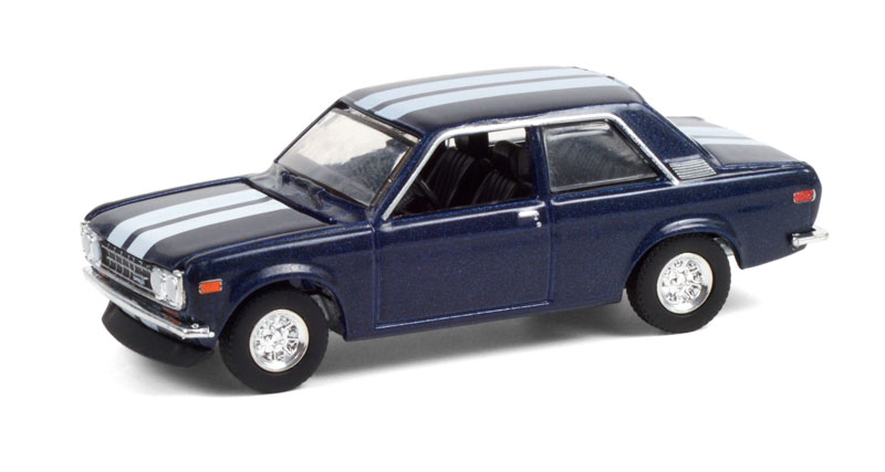 47070-C - Greenlight Diecast 1971 Datsun 510 Custom Rich Blue