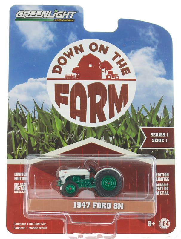 48010-A-SP - Greenlight Diecast 1947 Ford 8N Tractor SPECIAL GREEN MACHINE