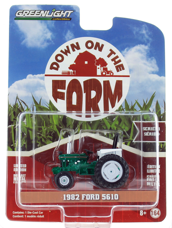 48010-C-SP - Greenlight Diecast 1982 Ford 5610 Tractor SPECIAL GREEN MACHINE
