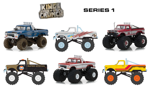 49010-CASE - Greenlight Diecast Kings of Crunch Series 1 6 Piece