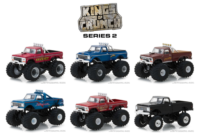 49020-CASE - Greenlight Diecast Kings of Crunch Series 2 6 Piece