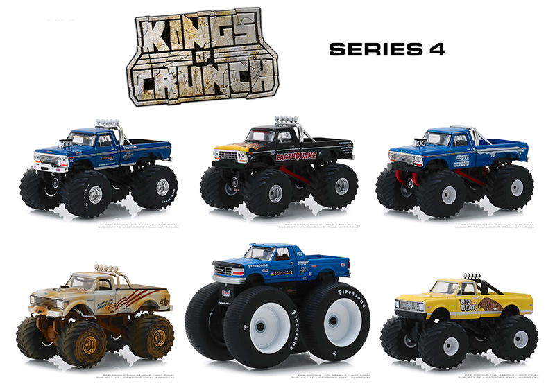 49040-CASE - Greenlight Diecast Kings of Crunch Series 4 6 Piece