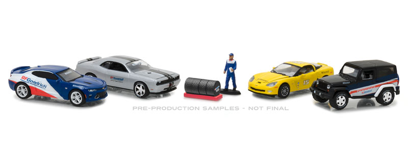 58046 - Greenlight Diecast BFGoodrich Performance Tire Shop Multi Car Diorama