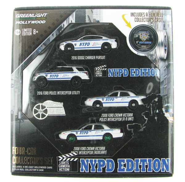 59050-B-SP3 - Greenlight Diecast Hollywood Film Reels Series 5 NYPD Behind