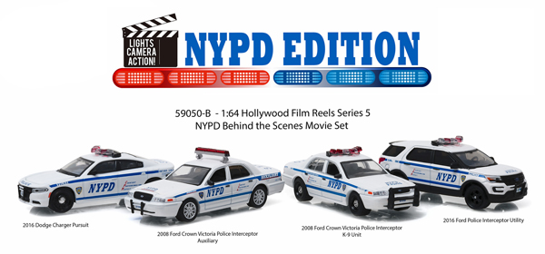59050-B - Greenlight Diecast Hollywood Film Reels Series 5 NYPD Behind