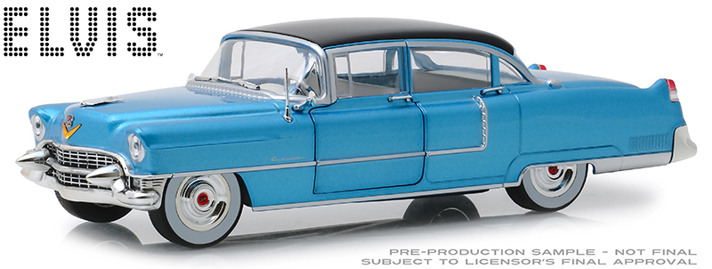 84093 - Greenlight Diecast 1955 Cadillac Fleetwood Series 60 Blue Cadillac