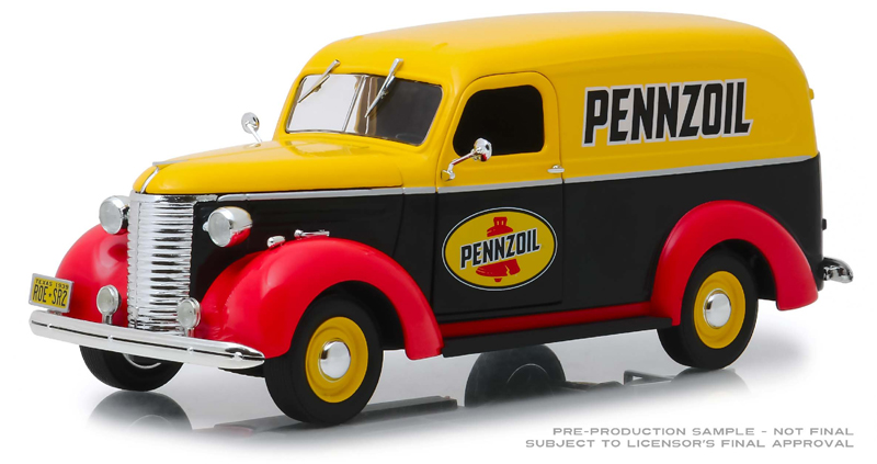 85021 - Greenlight Diecast Pennzoil 1939 Chevrolet Panel Truck 1 24