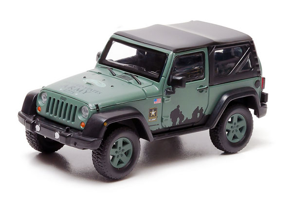 86043 - Greenlight Diecast US Army 2012 Jeep Wrangler Soft Top