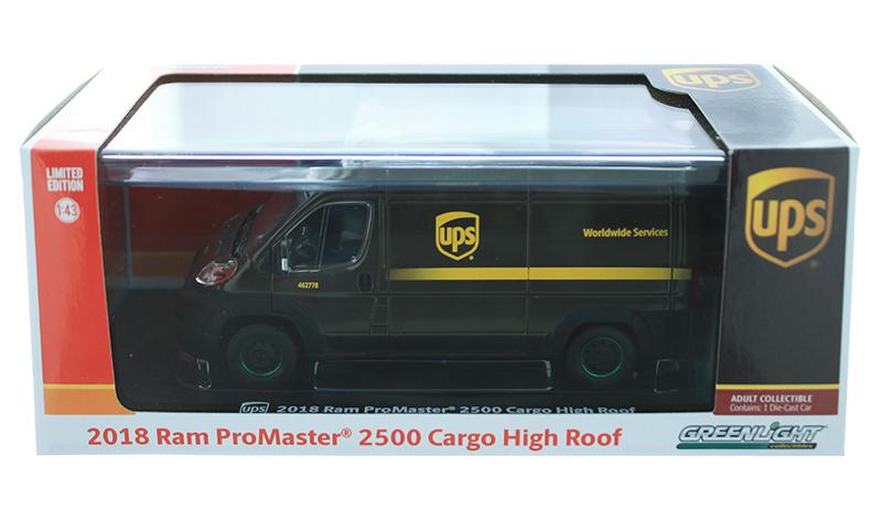 1//43 Greenlight Collectibles 86 Dodge Ram 2500 cargo UPS servicio en todo el mundo