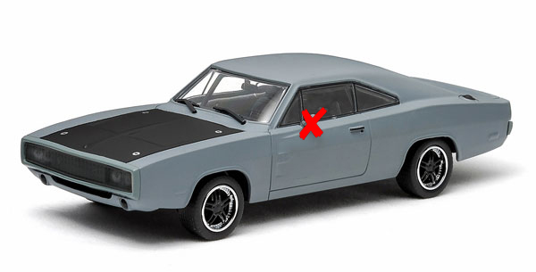 86217-X - Greenlight Diecast 1970 Dodge Charger Fast and