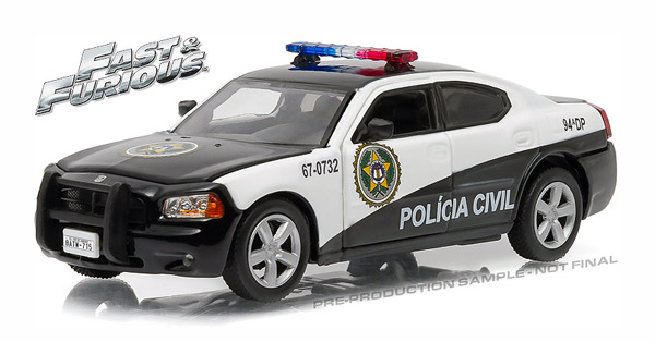 86237 - Greenlight Diecast Rio Policia Civil 2011 Dodge Charger Pursuit