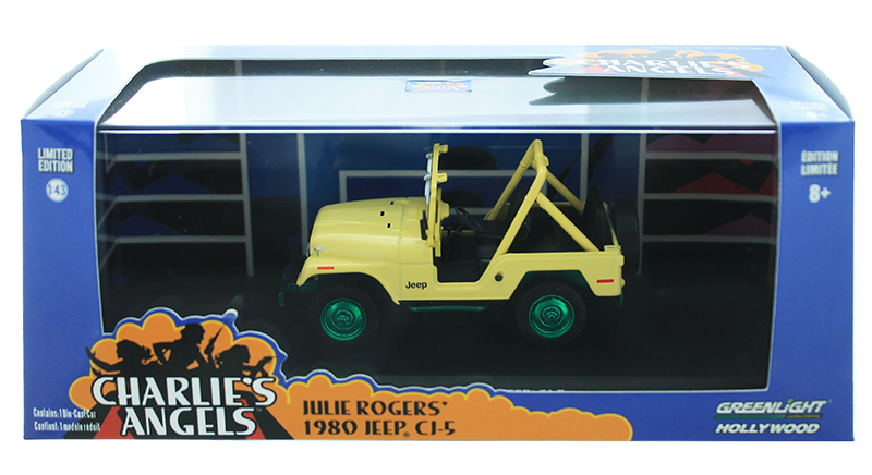 86333-SP - Greenlight Diecast Jeep CJ 5 Charlies Angels TV Series