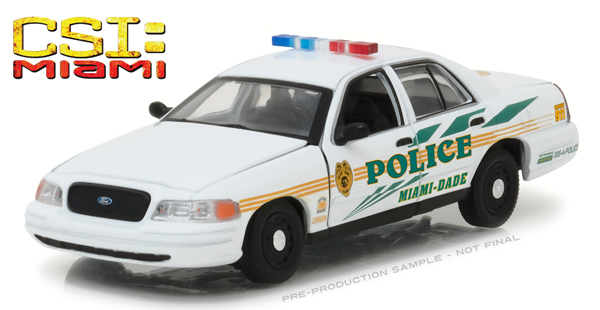 86508 - Greenlight Diecast Miami Dade 2003 Ford Crown Victoria Police