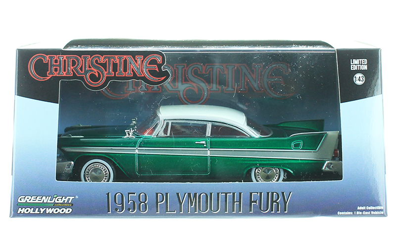 86529-SP - Greenlight Diecast 1958 Plymouth Fury Christine 1983 SPECIAL GREEN