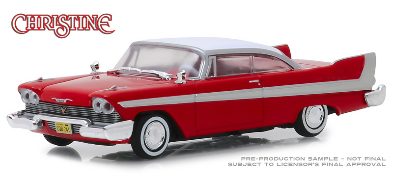 86529 - Greenlight Diecast 1958 Plymouth Fury Christine 1983 Authentic Movie