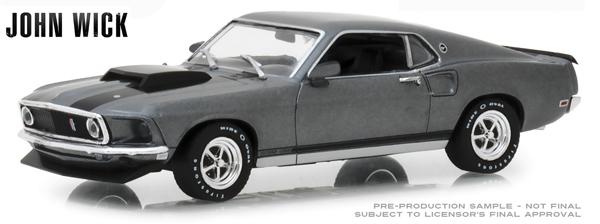 JOHN WICK 1969 Ford Mustang Boss 429 GREEN MACHINE GREENLIGHT 1:43 Hollywood