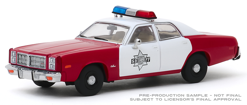 86573 - Greenlight Diecast Finchburg County Sheriff 1977 Dodge Monaco Authentic