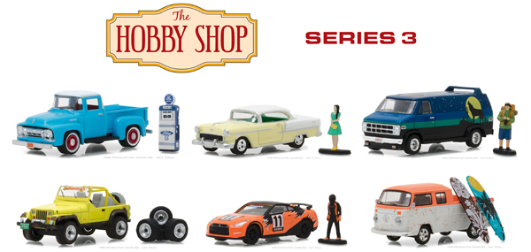 97030-CASE - Greenlight Diecast The Hobby Shop Series 3 6 Piece