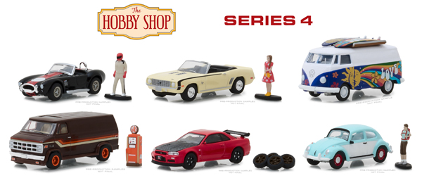 97040-CASE - Greenlight Diecast The Hobby Shop Series 4 6 Piece