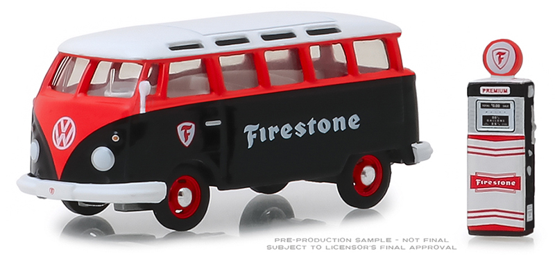 97060-A - Greenlight Diecast Firestone 1964 Volkswagen Samba Bus
