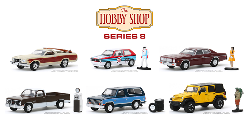 97080-MASTER - Greenlight Diecast The Hobby Shop Series 8 48 Piece