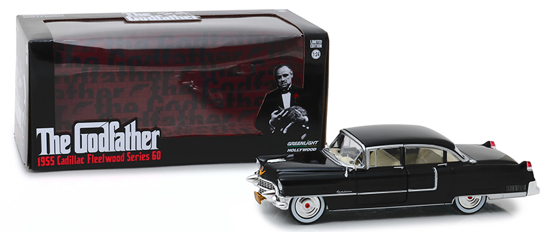 Greenlight 84091-1//24 Scale Diecast Model Toy Car 1955 Cadillac Fleetwood Series 60 The Godfather