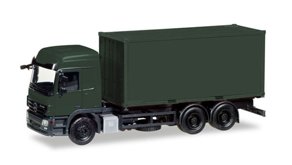 013383 - Herpa Model German Army Mercedes Benz Actros L Container