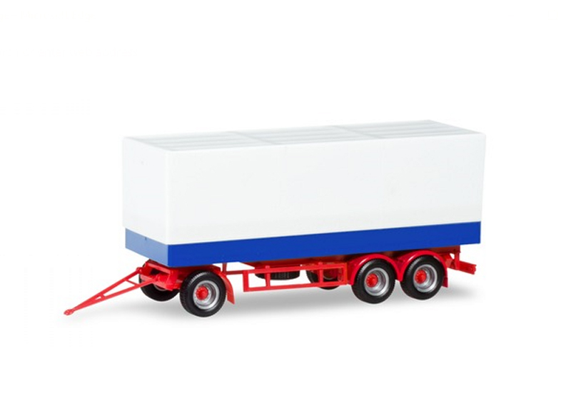 076852 - Herpa Model 3 Axle Canvas Covered Trailer high quality