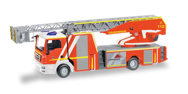 093064 - Herpa Model Fire Service MAN TGS Ladder Fire Truck