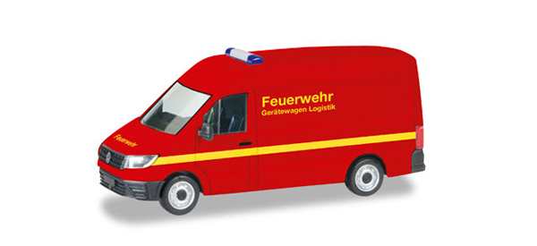 093477 - Herpa Model Volkswagen Crafter High Roof Emergency Fire Vehicle