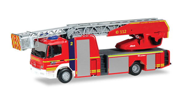 093729 - Herpa Model Gelsenkirchen Fire Department Mercedes Benz Atego Rosenbauer
