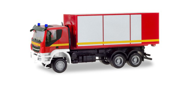 094610 - Herpa Model Fire Brigade Iveco Trakker Roll Off Truck