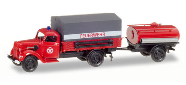 307956 - Herpa Model Fire Service Ford V 3000 Flatbed Truck