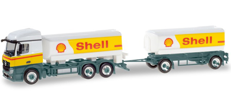 310437 - Herpa Model Shell Oil Mercedes Actros T_T Straight Tractor