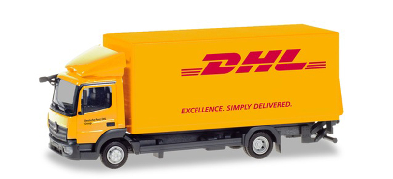 310505 - Herpa Model DHL Mercedes Atego Box Truck high quality