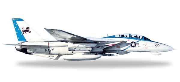 557672 - Herpa Model Grumman F 14D Tomcat VF 213 Black