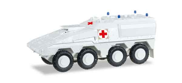 745338 - Herpa Model Boxer Personnel Carrier Red Cross All or