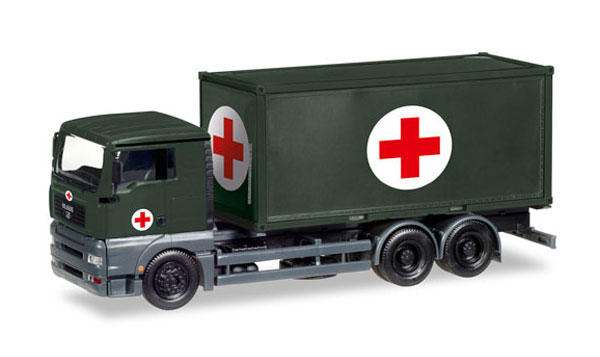 746250 - Herpa Model Red Cross MAN TGA XL Container Truck